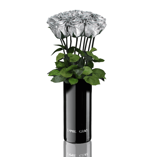 Classic Vase Set | Silver | 10 ROSES