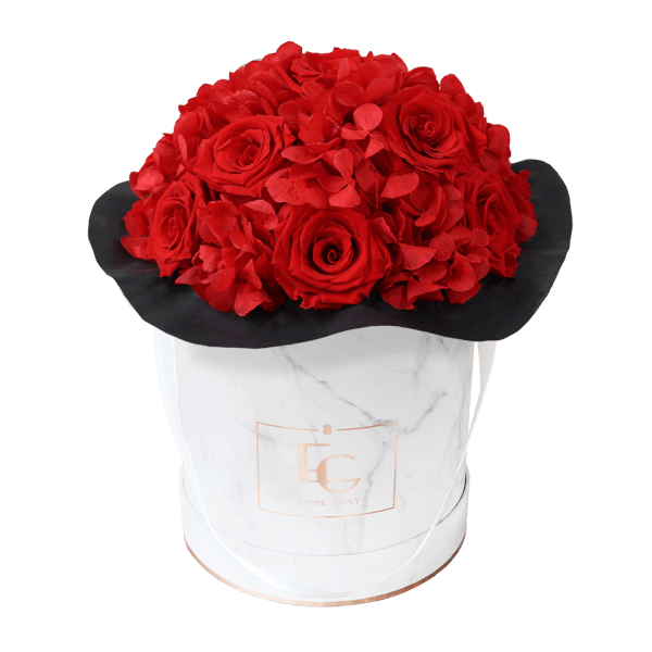 Splendid Hydrangea Infinity Rosebox | Vibrant Red | M
