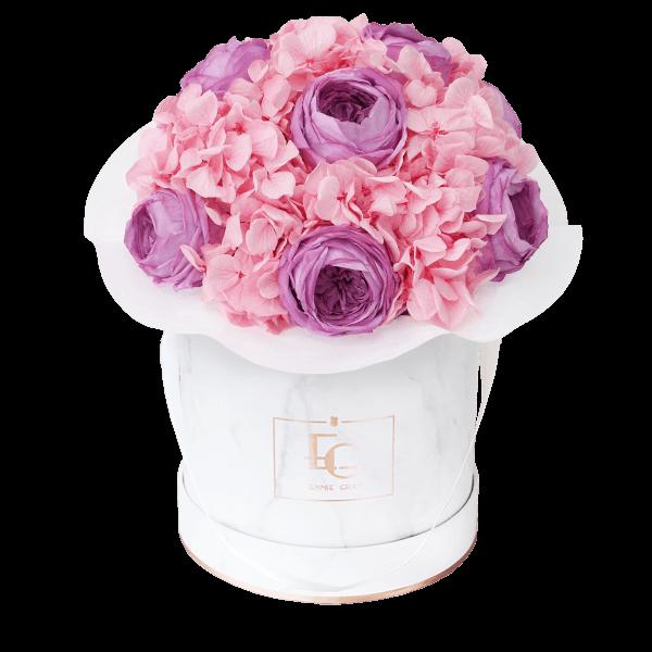 Splendid Peony Mix Infinity Rosebox   Baby Lilly & Bridal Pink   S