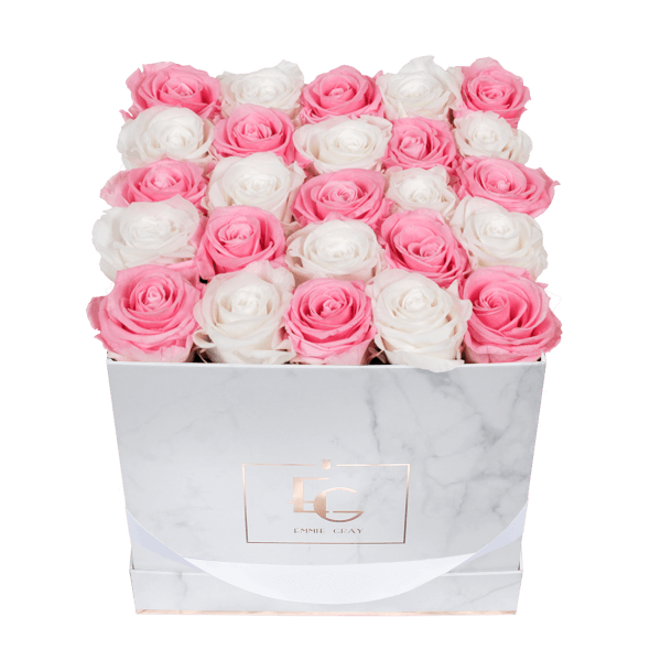 Mix Infinity Rosebox | Bridal Pink & Pure White | M