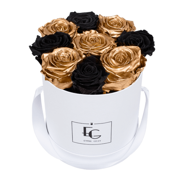 MIX INFINITY ROSEBOX | BLACK BEAUTY & GOLD | S
