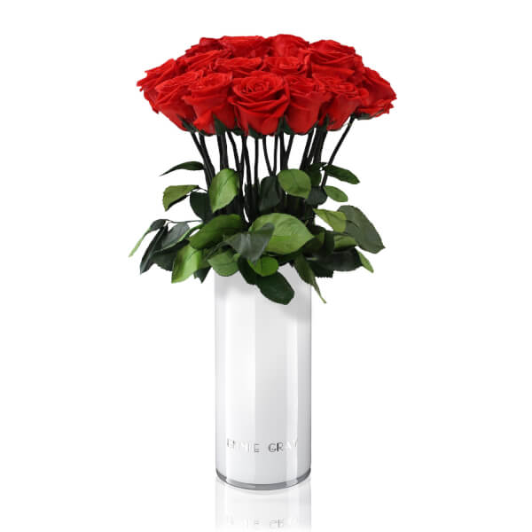 CLASSIC VASE SET | VIBRANT RED | 15 ROSES