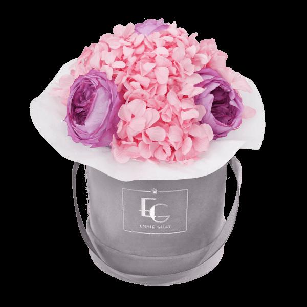 Splendid Peony Mix Infinity Rosebox | Baby Lilli & Bridal Pink | XS