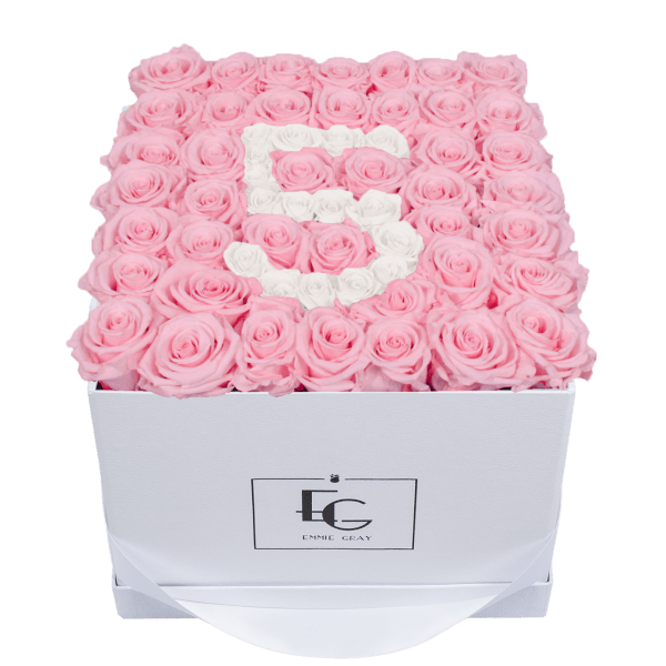 NUMBER INFINITY ROSEBOX | BRIDAL PINK & PURE WHITE | L