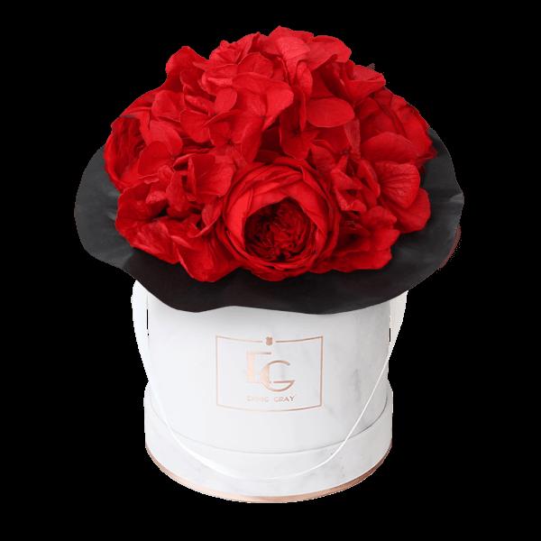 Splendid Peony Infinity Rosebox | Vibrant Red | XS