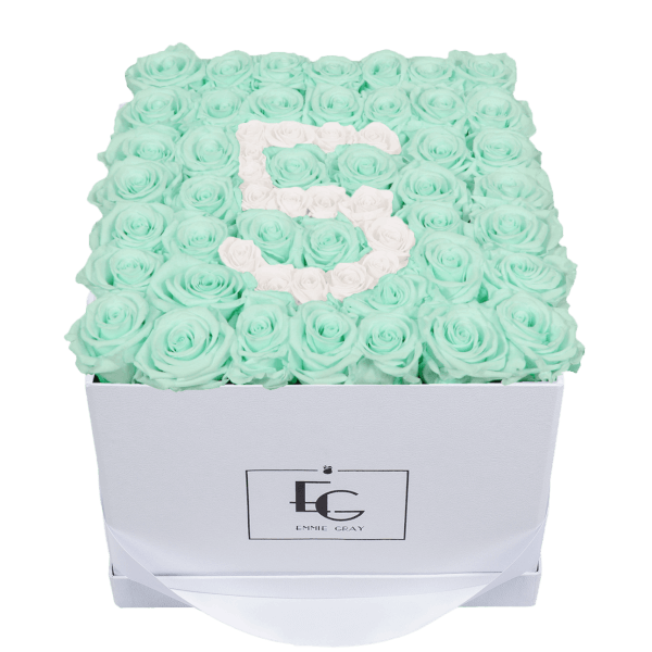 NUMBER INFINITY ROSEBOX | MINTY GREEN & PURE WHITE | L