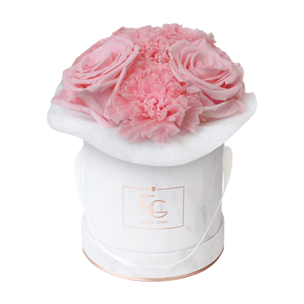 Splendid Carnation Infinity Rosebox | Bridal Pink | XS