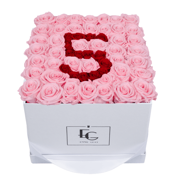 NUMBER INFINITY ROSEBOX | BRIDAL PINK & VIBRANT RED | L