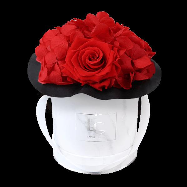 Splendid Hydrangea Infinity Rosebox | Vibrant Red | XS