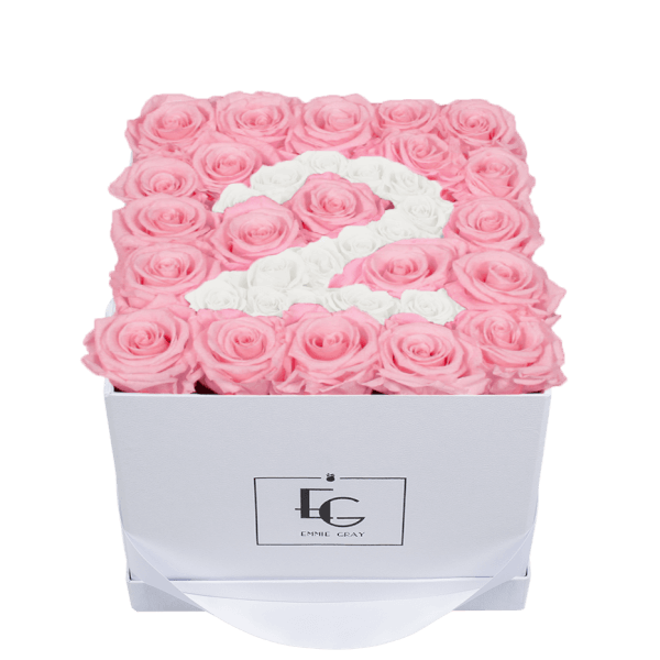 NUMBER INFINITY ROSEBOX | BRIDAL PINK & PURE WHITE | M