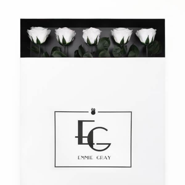 Long Stem Infinity Rose | Pure White | 5 Roses