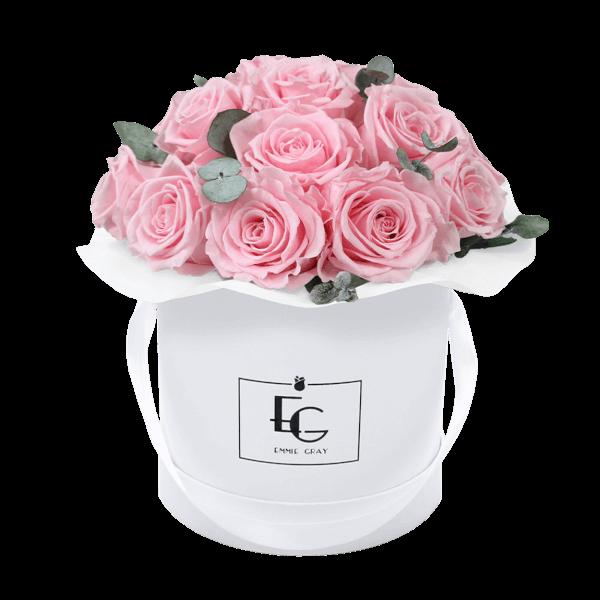 Splendid Eucalyptus Infinity Rosebox   Bridal Pink   S