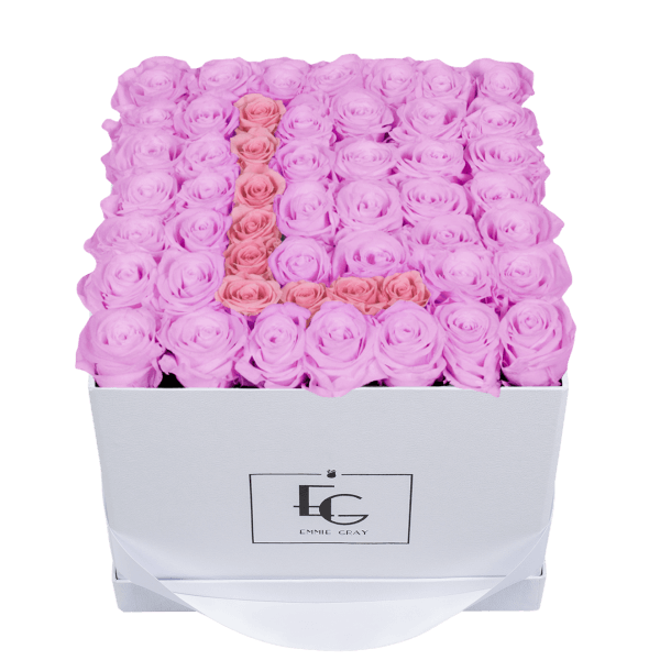LETTER INFINITY ROSEBOX | BABY LILLI & BRIDAL PINK | L