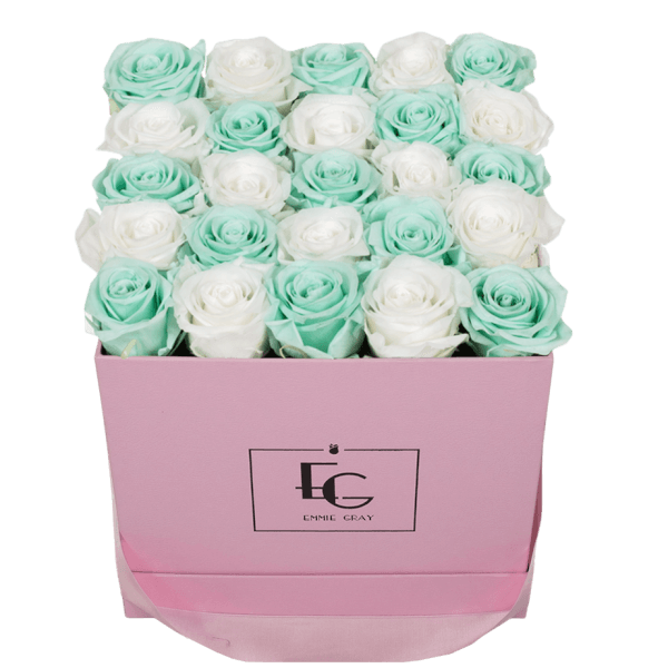MIX INFINITY ROSEBOX | MINTY GREEN & PURE WHITE | M
