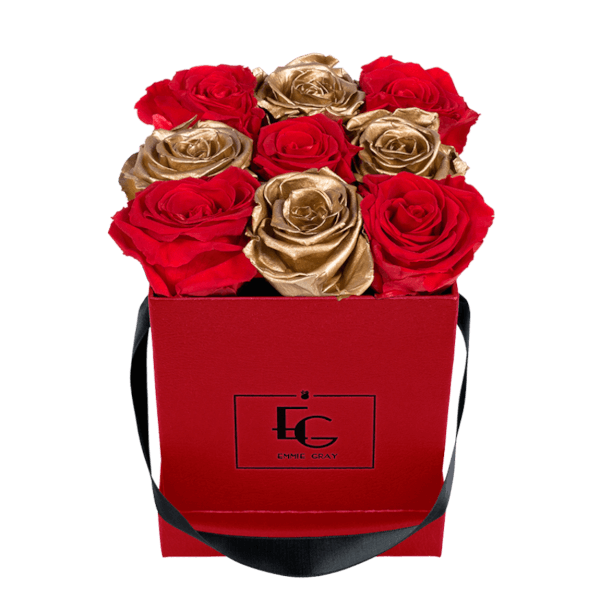 MIX INFINITY ROSEBOX | VIBRANT RED & GOLD | S