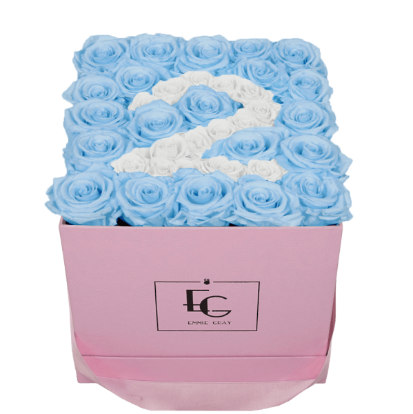 NUMBER INFINITY ROSEBOX   BABY BLUE & PURE WHITE   M