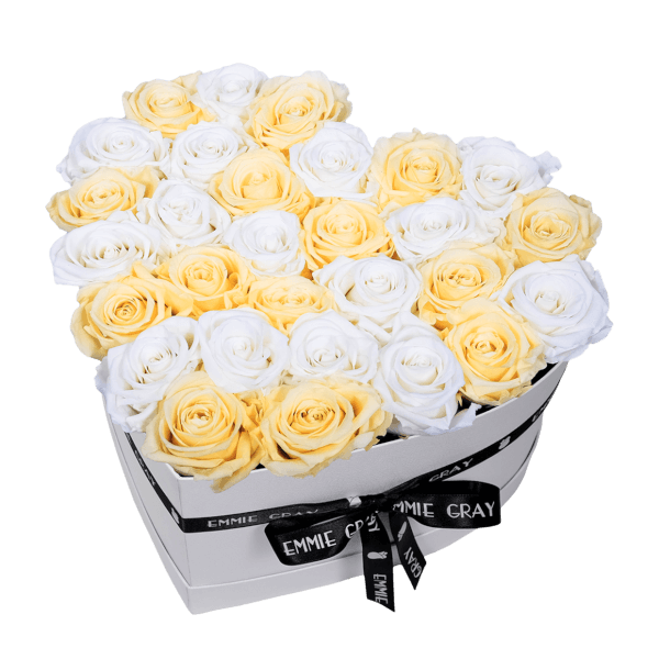 MIX INFINITY ROSEBOX | CHAMPAGNE & PURE WHITE | L