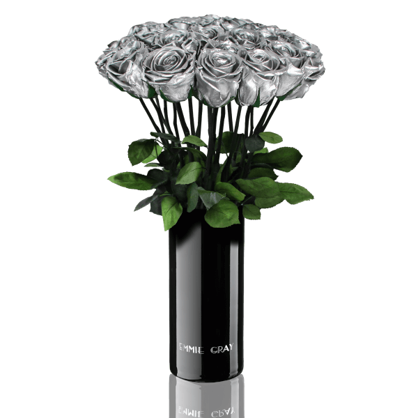 Classic Vase Set   Silver   15 ROSES