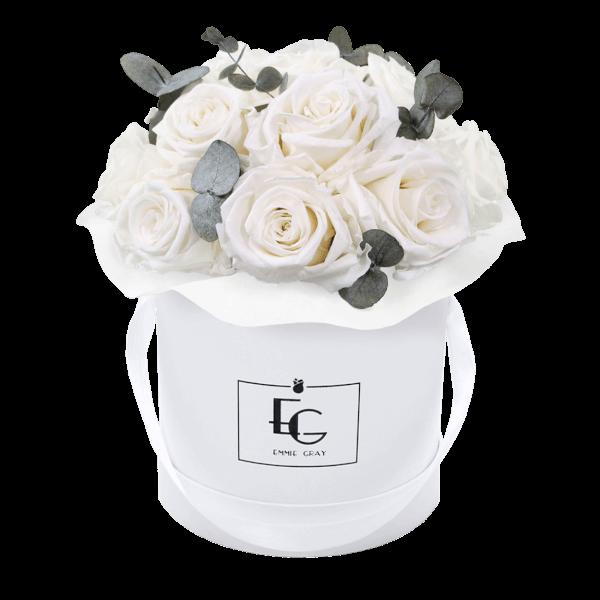 Splendid Eucalyptus Infinity Rosebox   Pure White   S