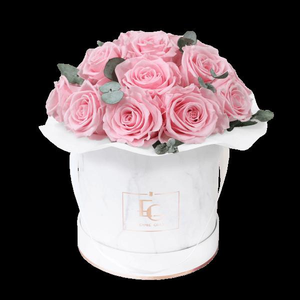 Splendid Eucalyptus Infinity Rosebox | Bridal Pink | S