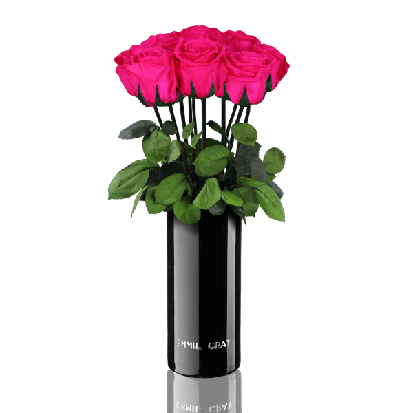 Classic Vase Set | Hot Pink | 10 ROSES