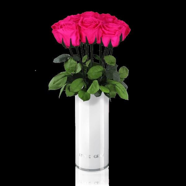 Classic Vase Set   Hot Pink   10 ROSES