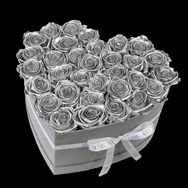 Classic Infinity Rosebox | Silver | L
