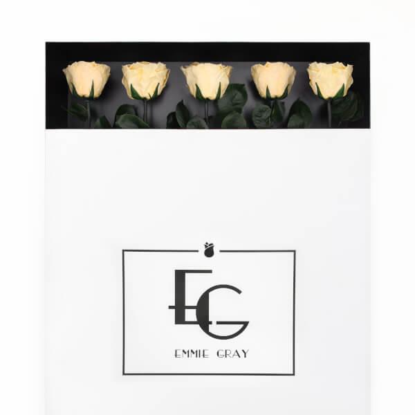 Long Stem Infinity Rose   Champagne   5 Roses